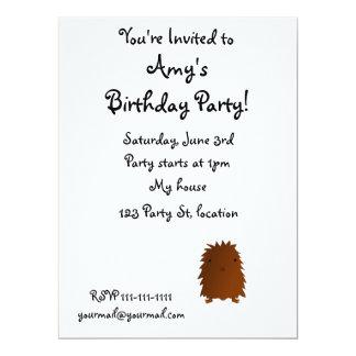 Cute baby bigfoot 17 cm x 22 cm invitation card