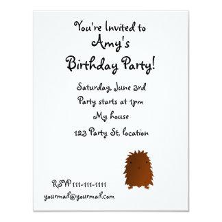 Cute baby bigfoot 4.25x5.5 paper invitation card