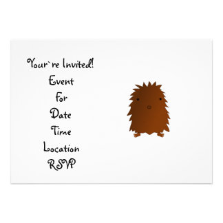 Cute baby bigfoot personalized invitation