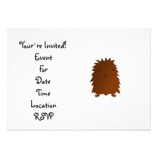 Cute baby bigfoot personalized invitation