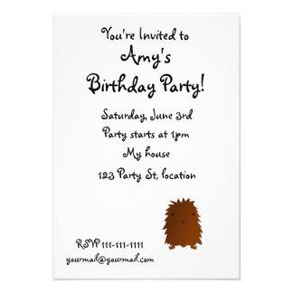 Cute baby bigfoot custom invites