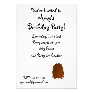 Cute baby bigfoot custom invite