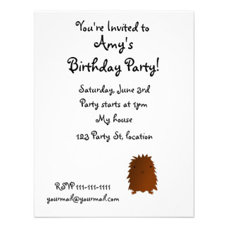 Cute baby bigfoot personalized announcements