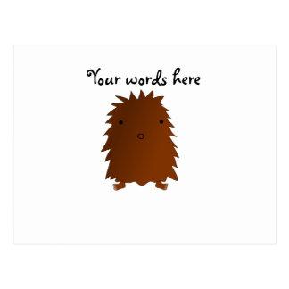 Cute baby bigfoot postcard