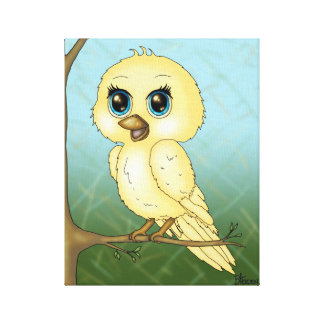 Cute Baby Bird Stretched Canvas Prints