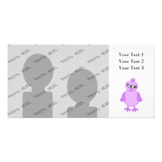 Cute Baby Bird in Purple and Lilac. Photo Cards