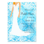 Cute Baby Blue Bridal Shower Invite