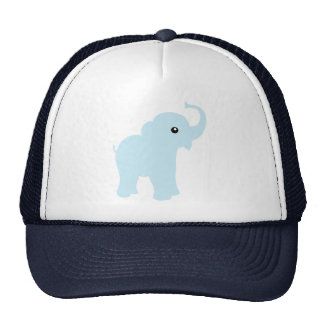 Cute baby blue elephant cap or hat