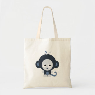 Cute Baby Blue Monkey Budget Tote Bag
