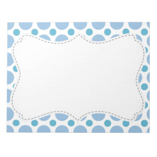 Cute Baby Blue Polka Dots Notepad