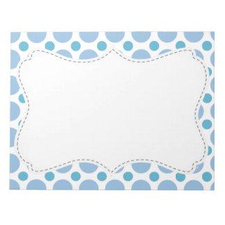 Cute Baby Blue Polka Dots Notepad