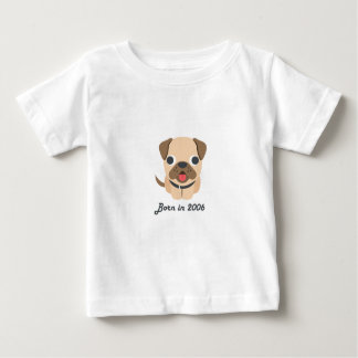 Cute baby bodysuit Chinese zodiac - 2006 dog puppy
