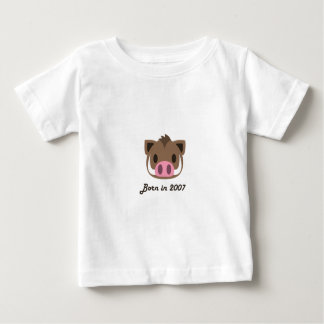 Cute baby bodysuit Chinese zodiac - 2007 boar