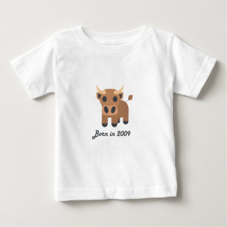 Cute baby bodysuit Chinese zodiac - 2009 ox brown