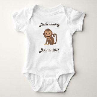 Cute baby bodysuit Chinese zodiac - 2016 monkey