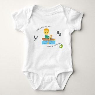 Cute baby bodysuit nursery rhyme row your boat