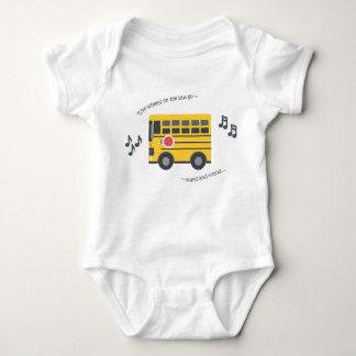 Cute baby bodysuit nursery rhyme wheels on the bus