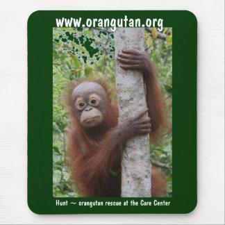 Cute Baby Borneo Orangutan Mouse Mat