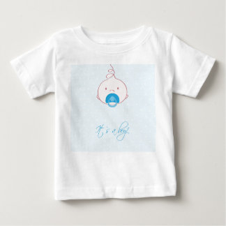 Cute baby boy arrival announcement card. baby T-Shirt