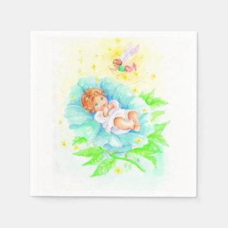 Cute baby boy baptism design disposable serviettes