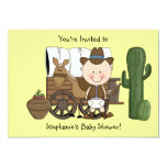 Cute Baby Boy & Horse Pony Custom Western Personalized Invitation