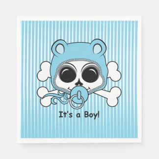 Cute Baby Boy Skull Disposable Serviettes
