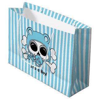 Cute Baby Boy Skull Large Gift Bag