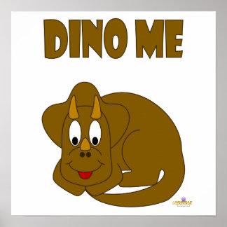 Cute Baby Brown Dinosaur Dino Me Print