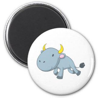 Cute Baby Bull Matador Shirt 6 Cm Round Magnet