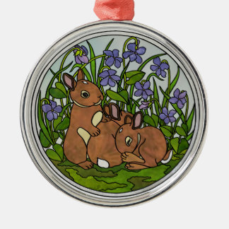 Cute Baby Bunnies Ornament