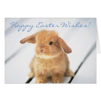 Cute Baby Bunny Happy Easter Design Card