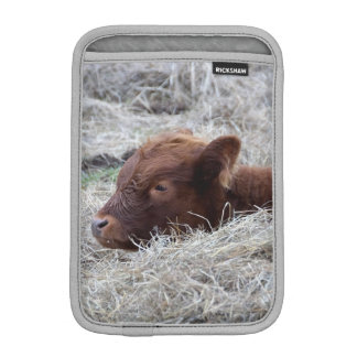 Cute Baby Calf, Farmyard Animal Mini iPad Sleeve