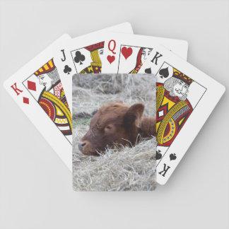 Cute Baby Calf, Farmyard Animal Playing Cards