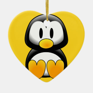 Cute Baby Cartoon Penguin Christmas Ornament