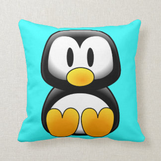 Cute Baby Cartoon Penguin Throw Pillow
