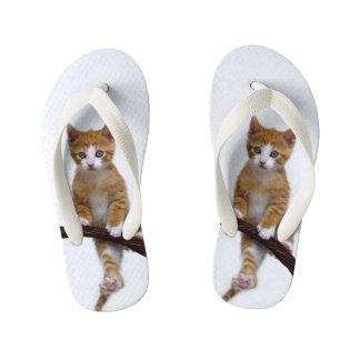 Cute Baby Cat Kitten Funny Play Gym Photo - Kids Kid's Flip Flops