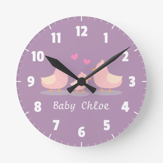 Cute Baby Chick Bird Family Baby Girl Room
