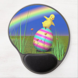 Cute Baby Chick on Easter Egg Gel Mousepad