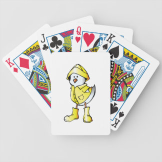 Cute Baby Chick Wearing a Yellow Raincoat Card Deck