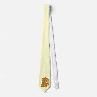 Cute Baby Chipmunk Animal Cartoon Tie