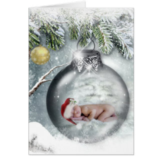 Cute Baby Christmas Card