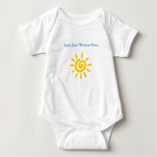 Cute Baby Clothing Girls Just Wanna Have Sun Baby Bodysuit