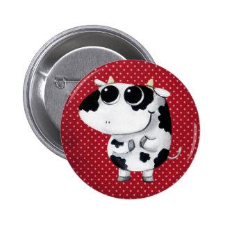 Cute Baby Cow 6 Cm Round Badge