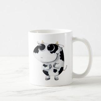 Cute Baby Cow Basic White Mug
