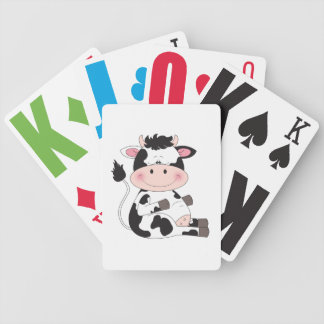 Cute Baby Cow Cartoon Bicycle Playing Cards