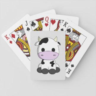 Cute baby cow cartoon card decks