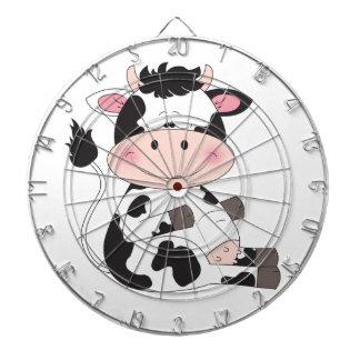 Cute Baby Cow Cartoon Dartboard