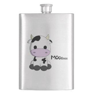 Cute baby cow cartoon flasks