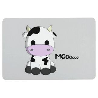 Cute baby cow cartoon floor mat