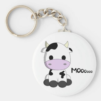 Cute baby cow cartoon key ring